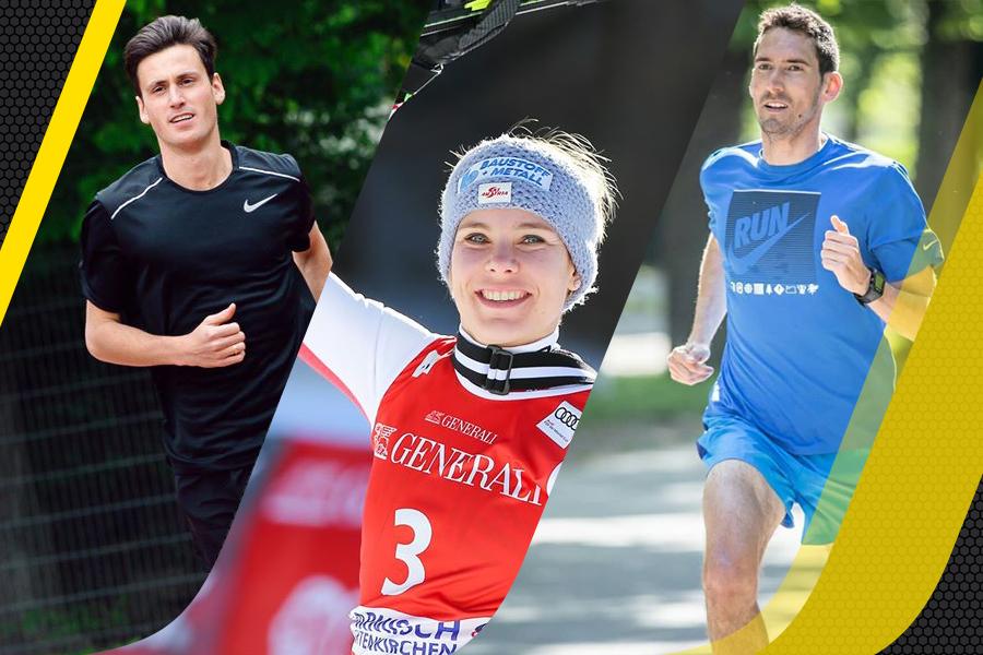 Unsere Botschafter Valentin Pfeil (Marathon), Nici Schmidhofer (Ski alpin Abfahrt und Super G) und Andreas Vojta (Mittelstreckenläufer), als Repräsentanten der Marke ISOSTAR in Österreich.
